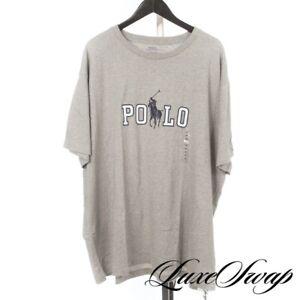 NWOT Polo Ralph Lauren Heather Grey White Collegiate Logo Crewneck Tee Shirt 3XB