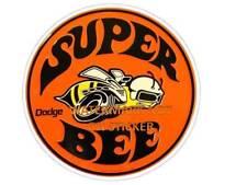 VINTAGE SUPER BEE DODGE GASOLINE PETROL DECAL STICKER LABEL LARGE 240 MM WIDE xx
