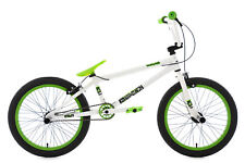 "BMX Freestyle Vélo Neuf 20"" Twentyinch Blanc-Vert 4 Pegs KS Cycling 642B"