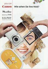 Prospekt 2008 d CANON POWER SHOT IXUS selphy brochure Camera folleto cámaras