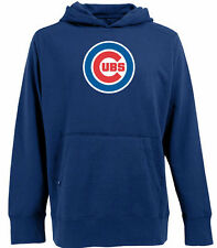 AS-IS Chicago Cubs Big Logo Signature Hooded Pullover Sweatshirt Blue Mens Large
