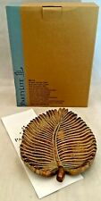 Retired PartyLite Sculpted Leaf Pillar Candle Holder Tray New Nib