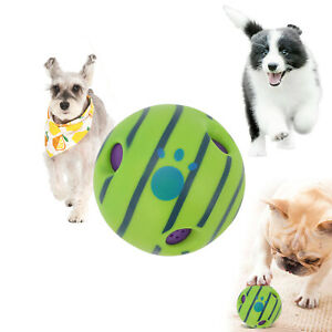 Wobble Wag Giggle Ball Dog Doggy Indoor Outdoor Pet Toy Rolling Shaken Sound