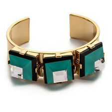 NEW ARRIVAL Marc by Marc Jacobs Stacked Glass Pyramid Gold-Plated Open Bangle