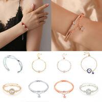 Fashion Lady Women Stainless Steel Bracelet Jewelry Charm Cuff Bangle Gift