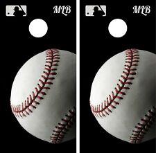 Baseball MLB Cornhole Wrap Game Art Gameboard Vinyl Skin Set Sticker PO13