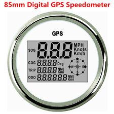 Universal 9-32V Car Truck 85mm GPS Digital Speedometer Odometer Gauge Waterproof