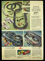 1973 MCM Tyco Slot Cars Racing Cars Set Monza 500 Print Advertising 627A