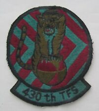 US AIRFORCE 430th TFS Tactical fighter sqdrn Patch