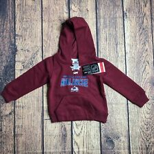 NHL Kids Small Colorado Avalanche Long Sleeve Pullover Sweatshirt Hoodie New