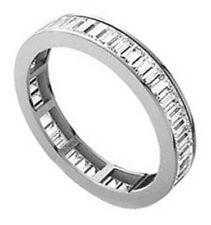 0.75ct Baguette Cut Diamonds Full Eternity Wedding Ring,9K White