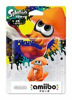 NEW Nintendo 3DS Wii U Amiibo Squid Orange Figure Splatoon Import F/S Japan