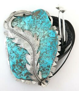 HOLY MOLY - Sterling Silver & Turquoise COLOSSAL 320 Gram Bolo Tie