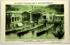 Cartolina Marina - Lo Sforzo Italiano Per Il Munizionamento, Darsena Del Cantier