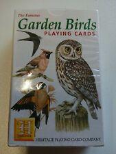 Heritage garden birds playing cards ornithology wildlife nature novelty cards