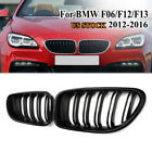 Front Grille Fit BMW F06 F12 F13 M6 Style 650i 640i 12-16 Gloss Black Dual Line