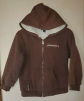 Quiksilver Boys Sherpa Lined Hoodie Coat XL Brown Zip Up