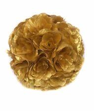 "7"" or 10"" Flower Balls Kissing Ball Pomander Floral Decor Centerpiece Gold"