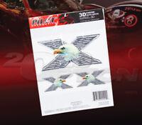 "PILOT AUTOMOTIVE X EAGLE 3D STICK-ON AUTO BODY DECAL STICKER CHROME 6"" X 8"""
