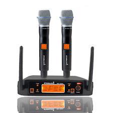Staraudio 2 Channel Uhf Handheld Wireless Microphone System 2Ch Church Stage Mic