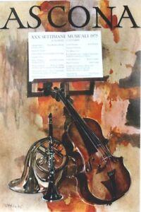 Original vintage poster ASCONA CLASSIC MUSIC FESTIVAL 1975