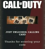 Call of Duty Black Ops Cold War ULTRA RARE DECADES CALLING CARD LIMITED