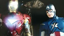 Avengers Signed By Robert Downey Jr. And Chris Evans 8 X 10 Photo With COA