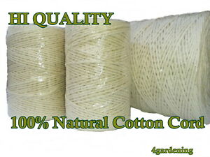 Garden String Cotton Twine Horticultural Ball Line Packthread 100% Natural
