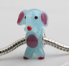 1pcs MURANO GLASS BEAD LAMPWORK Fit European Charm Bracelet DW-215 lovely Animal