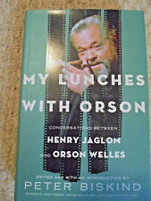 MY LUNCHES WITH ORSON-JAGLOM-HARDCOVER W/DJ-NEW- 2013-CONVERSATIONS-BISKIND-LOOK