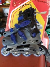 Forward Pacer Inline Skates, Youth Size 1, Rollerblades, Gray, Blue & Black