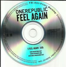 ONEREPUBLIC Feel Again TST PRESS 2012 USA PROMO DJ CD Single One Republic