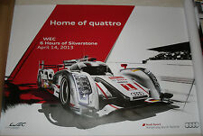 Le Mans 2013 FIA WEC Official Audi R18 Silverstone Commemorative Poster New!