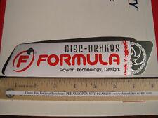 "8"" FORMULA DISC  BRAKE Bike Mountain Road Tri Race  Frame Bicycle DECAL STICKER"