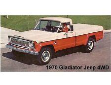 1970 Gladiator Jeep 4WD Refrigerator Magnet