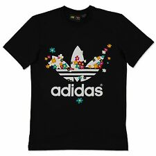 Adidas Originals Hippie Fleur 60s Été Trefoil Tee Pharrell Williams Chemise XS