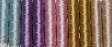 SILKA - fil à broder, cordonnet soie naturelle, lot de 10, coloris assortis N°7