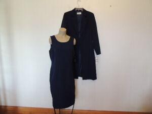 New with tag $240. Le Suit size 12 navy blue dress & coat - jacket suit