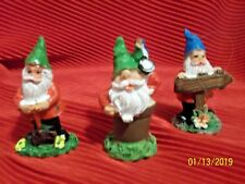 Miniature ~ Dollhouse Fairy Garden ~ Gnome / Elves Figurines 3 Piece Set - New