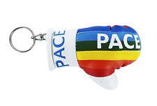 Keychain Mini boxing gloves key chain ring flag key cute pace rainbow peace
