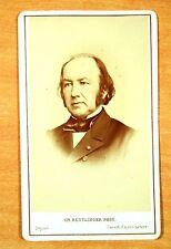 CLAUDE BERNARD French Physiologist cdv carte de visite c1868 CH. REUTLINGER rare