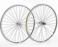 Shimano 105 Silver Hub Mavic Open Pro Black Rim 700c Road Bike Wheelset Wheels