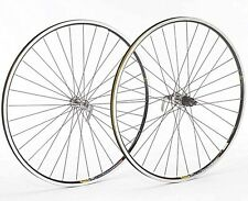 Shimano 105 Silver Hub Mavic Open Pro Black Rim 700c Road Bike Wheelset Wheels