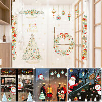 Merry Christmas Xmas Santa Wall Window Stickers Decals XMAS Home Shop Decor