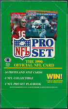 1990 PRO SET SERIES 1 FOOTBALL TRADING CARDS BOX