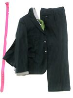 DANIELE ALESSANDRINI Mens Suit MADE IN ITALY 42R BLUE STRIPE Wool 2 Button