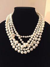 BNWT J. CREW Multi-strand Pearl Necklace