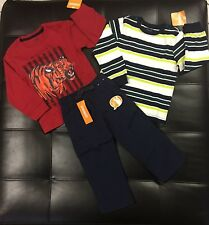 NWT Gymboree Boys Mix N Match Shirts Tops Navy Blue Jersey Lined Pants 2T