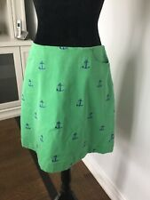 LILLY PULITZER Anchor print women's green cotton skirt size usa 6