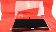 Full Size Clear Acrylic Box Case with Lock & Black Velvet Display Pad